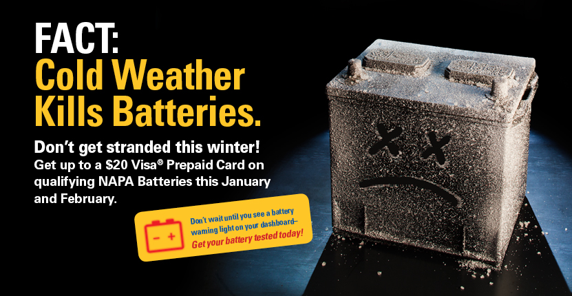 Don't get stranded this winter because of a dead battery